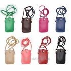 2-Layer PU Leather Case Bag Phone Pouch Shoulder Bag with Strap For Iphone 4 5