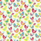 FLO BIRDS - CREAM - FLO'S GARDEN by MAKOWER 100% COTTON FABRIC PATCHWORK