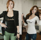 Sexy Womens Girls Slim Long Sleeve T-shirt Casual Bodycon Clubwear Tops Blouse