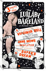 "Classic Vintage Burlesque Poster ""Lullaby of Bareland"" re-print,Virginia Bell"