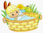 """6-10.5"""" PRECIOUS MOMENTS PETS BOY FROG LILLY  WALL SAFE STICKER  BORDER CUT OUT"""