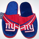 Nwt New York Giants NY Logo Slippers NFL Football Slip-on Scuffs Plush Nice Men