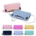 Kawaii Big Mouth Whale Rubber Soft Case Cover For Apple iPhone 4/4S/5/5S BD4U