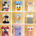 Fashion Women Lady Girls Korean Style Short Sleeve Loose Casual T-shirt Tops New