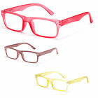 New Clear Translucent Frame Flat Texture Color Fashion Reading Glasses - Multi