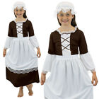 TUDOR GIRL FANCY DRESS COSTUME POOR TUDOR MAID SCHOOL OUTFIT VICTORIAN GIRLS