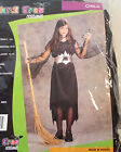 Vampire Black Dress Girls Costume Dress S 4-6 L 12-14 NIP