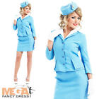 Cabin Crew Ladies Costume + Hat Flight Attendant Uniform Womens Fancy Dress New