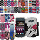 For Samsung Galaxy Ring M840 Design DIAMOND BLING Crystal Hard Case Phone Cover