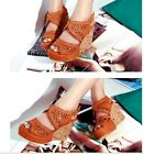 Ladies Synthetic Leather Wedge Heels Buckle Sandals Platform Shoes US All Size