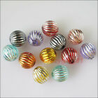 8mm 10mm Mixed Acrylic Round Ball Spacer Beads Charms