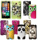 For Nokia Lumia 635 Cover Hard Design Rubberized Snap On Case Phone Accessory
