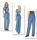 SEWING PATTERN Butterick B5403 Womens Designer JEANS TROUSERS DUNGAREES PANTS