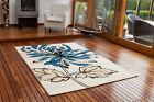 New Small Large Floral Modern Rugs Quality Easy Clean Teal Living Room Rug Cheap