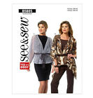 SEWING PATTERN Butterick B5805 Misses Loose Fit FISHTAIL HEM WRAP JACKETS