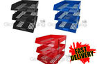 LETTER FILING TRAYS IN/OUT + RISERS - COMPLETE SETS *ALL COLOURS / TYPES* FAST