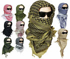 100% Cotton SHEMAGH HEADSCARF - Colour Option - Military Keffiyeh Arab Army Wrap