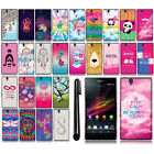 For Sony Xperia Z C6603 C6606 Image PATTERN HARD Case Back Phone Cover + Pen