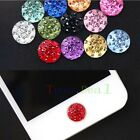 6x Diamond Fashion Bling Home Button Sticker Case for Apple iPod Tablet Phones