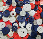 BAG MIXED ASSORTED BUTTONS RED WHITE AND BLUE BUTTONS