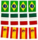 QUALITY COUNTRY FLAG BUNTING BANNER PARTY DECORATION WORLD CUP EURO 5M 12 FLAGS