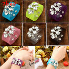 Beauty Transparent Film PVC Resin Flower Crystal Bracelet Bangle Cuff Wristband