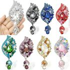 "4.1"" Flower Teardrop Dangle Multi Austrian Crystal Brooch Pin Wholesale"