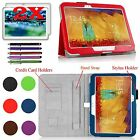 For Samsung Galaxy Tab Pro 10.1 Tablet w / Hand Strap PU Leather Stand Case Cover