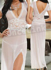 Sexy Wedding Honeymoon Lingerie Evening Long Gowns Dress Chemise Babydoll String