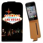 Welcome To Las Vegas Leather Flip Case for Apple iPhone 4 4S