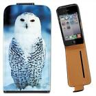 Owl Leather Flip Case for Apple iPhone 4 4S