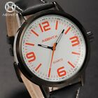 AGENTX Mens 4 Colors 50MM Big Dial Leather Sport Wrist Quartz Watch