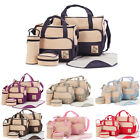 5pcs/set Baby Nappy Changing Diaper Bag Set 2 Bags + Change Mat + 2 Pouches