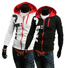 Mens Slim Top Hoodie Coat Sweatshirt Men Jackets Casual Zip Jumper Coats Sweater