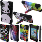 For LG Optimus F3 MS659 Y KICKSTAND HYBRID Rubber HARD Case Phone Cover + Pen