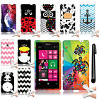 For Nokia Lumia 521 Image TPU SILICONE Rubber Protector Case Phone Cover + Pen