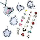 Living Memory Locket Necklace Chain Floating Charm Jewellery Pendant Charms Gift