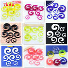 2x Acrylic Spiral Ear Expander Stretcher Taper Plugs Tunnel Earrings Gauge Punk