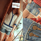 Summer Casual Women Jeans Waist Wild Lace Jeans Shorts 3381