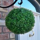 ARTIFICIAL BUXUS BALL LIGHT GREEN BOXWOOD HANGING TOPIARY GARDEN FAKE