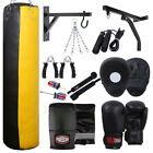 Customise Rex Leather Boxing Punch Bag Workout Kit, Gloves, Pads, Rope, Chain