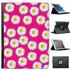 Pink with Lovely Dainty White Daisies Folio Wallet Leather Case For iPad Air