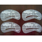 4x New Makeup Cosmetic Tool Eyebrow Grooming Shaping Card Stencil Template Kit