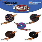 8ft WEAVER HORSE POLY ROPING REINS W/ LEATHER LACES LOOP ENDS