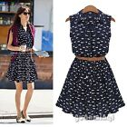 Brand New Summer Women Cute Cat Print Sexy Party Casual Vintage Dress Vestido