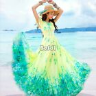 New Boho Sexy Summer Beach Evening Party Dresses Ladies Long Maxi Chiffon Dress