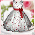 R3117 Reds Christmas Wedding Party Dress Flower Girls Dresses SIZE 2-3-4-5-6-7-8