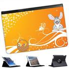 Easter Rabbit Happy With Basket of Easter Eggs Folio Leather Case For iPad Mini