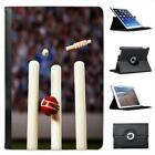Cricket Ball Hitting Wickets YOU'RE OUT! Folio Leather Case For iPad Mini