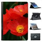 Red Iceland Poppies Blooming Bright Folio Leather Case For iPad Mini & Retina